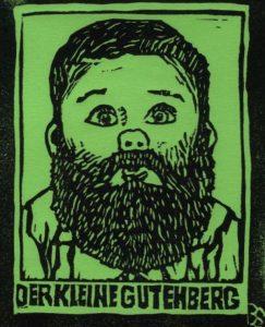 Linoldruck Der kleine Gutenberg