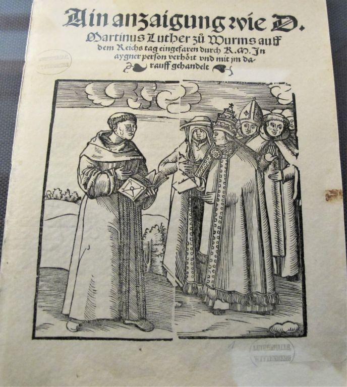 """Flugblatt """"Luther vor dem Reichstag in Worms"""""""